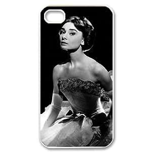 C-EUR Customized Print Audrey Hepburn Pattern Back Case for iPhone 4/4S