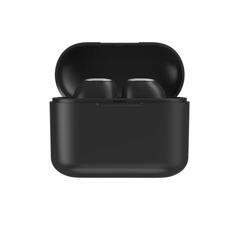Auriculares Bluetooth, Auriculares inalámbricos Bluetooth 5.0 Auriculares Deportivos Mini TWS Auriculares Bluetooth Regalo de Empresa (Q3-Negro)