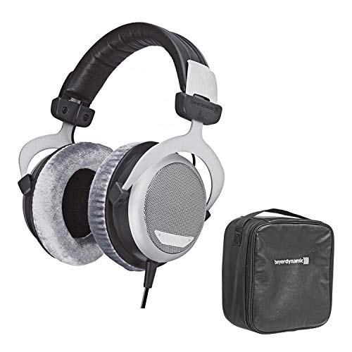 Beyerdynamic DT 880 Edition 600 Ohm Over-Ear Stereo Headphones Bundle with Protection Plan and Leather Storage Bag