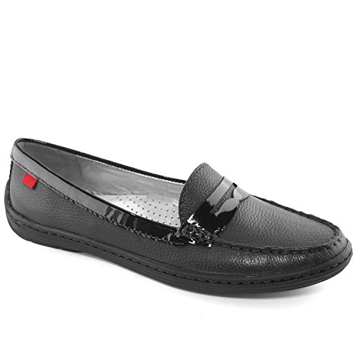 Patent Penny Loafer (Marc Joseph New York Women's Atlantic Black Grainy Patent Penny Loafer 8.5)