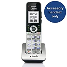 VTech CM18045 Accessory Handset, Silver/Black | Requires a VTech CM18445 Small Business Office Phone System to Operate