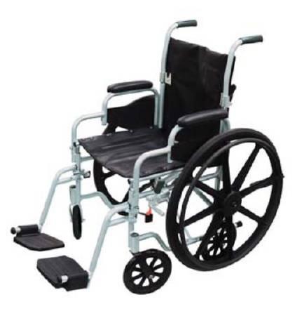 High Strength Lightweight Wheelchair - Drive Med 56364200 Wheelchair Poly-fly High Strength, Lightweight Transport 20 Inch Tr20 Box Of 1