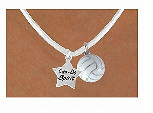 ''Can-do Spirit'' Star & White Volleyball Necklace by Lonestar Jewelry