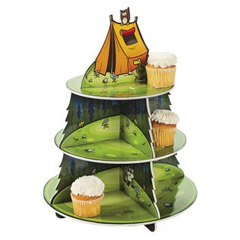 Camp Adventure Cupcake Holder Display Stand by Party Supplies