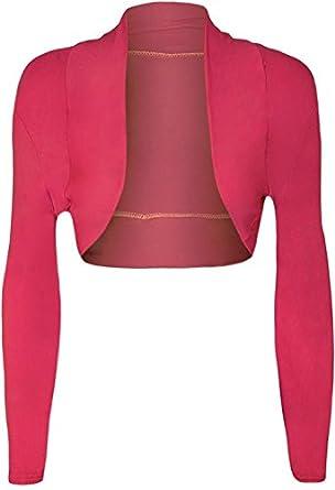 04450322ebcf6 Online Fashion Store NEW CERISE PINK PLUS SIZE CROPPED LONG SLEEVE CARDIGAN  SHRUG BOLERO JACKET TOP