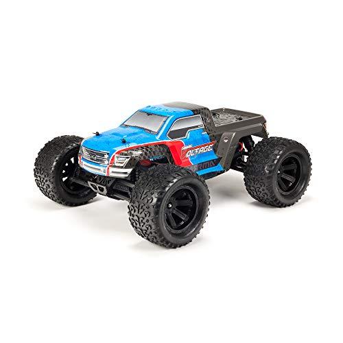 Monster Truck ARRMA RC: Voltaje de granito 1/10 MEGA 2WD SRS RTR con radio de 2.4GHz | Batería NiMH 1800mAh 6C | Cargador | Escala 1:10 (azul / negro), ARA102727T2