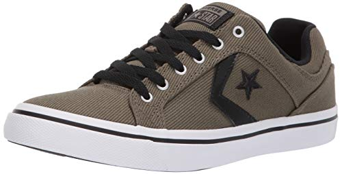 (Converse Men's Unisex El Distrito Twill Low Top Sneaker, Field Surplus/Black/White 8 M US)