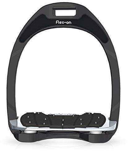 【 限定】フレクソン(Flex-On) 鐙 アルミニウムレンジ Inclined ultra-grip フレームカラー:Sideral エラストマー:ホワイト 82019   B07KMF4XZD