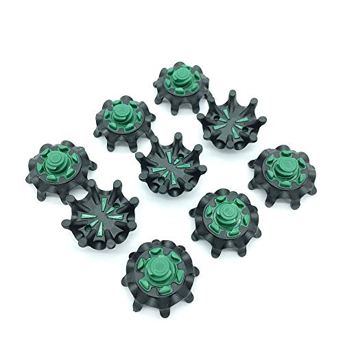 OLEYO 28PCS Golf Spikes Golf Shoes spikesTri-LOK Easy Replacement Spikes Cleats (Green)