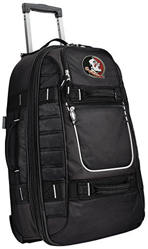 Small Florida State University Carry-On Bag Wheeled Suitcase Luggage Bags by Broad Bay
