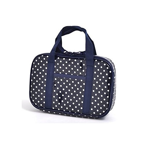 Kids sewing, sewing kit, Misasa polka dots, dark blue made in Japan N2304010 of case on style (japan import)