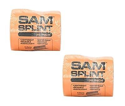 "SAM Rolled Splint 36"", Orange/Blue"