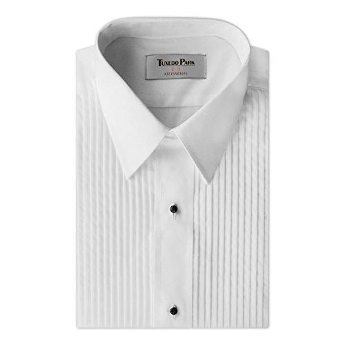 (Tuxedo Shirt- Boys White Laydown Collar 1/4
