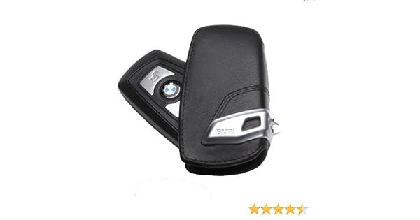 GENUINE  BMW Leather Key Case//Fob;  Black//Black  82292219911