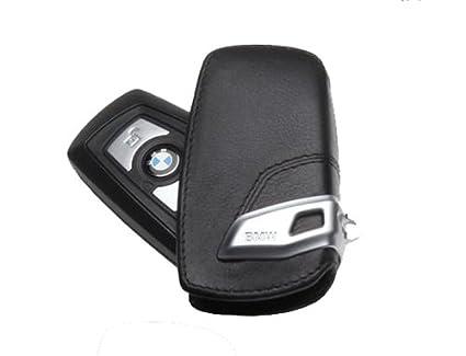Funda para llave de aspecto moderno para BMW – color negro/beige.