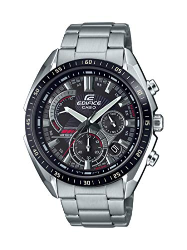 Casio Men's Edifice Quartz Stainless Steel Strap, Silver, 22 Casual Watch (Model: EFR-570DB-1AVCR)