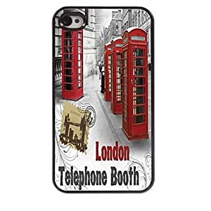 DD Telephone Booth Design Aluminum Hard Case for iPhone 4/4S