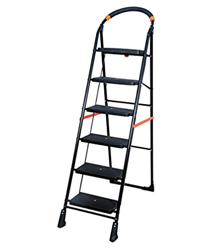PAffy Milano 6-Steps Folding Ladder (Black)