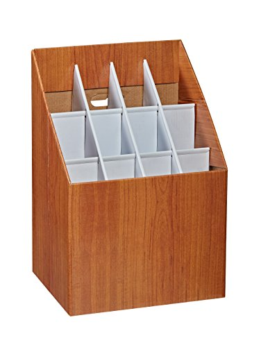 Adir Corp. 627 Upright Roll File Corrugated Box with 12 (12 Compartment Storage)