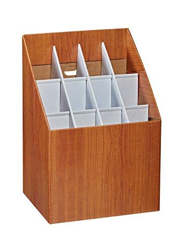 Adir Corp. 627 Upright Roll File Corrugated Box with 12 Slots Fiberboard Roll File
