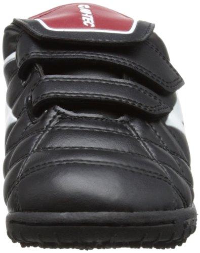 Hi-Tec League Pro Astro EZ Jr - Zapatos de fútbol de material sintético infantil negro - Black/White/Red