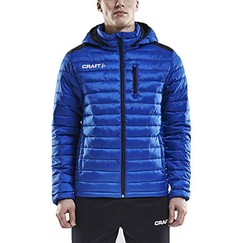 Craft Men's Jacket Puffer Coat - Water & Wind Resistant - Packable, Hooded, Warm Insulation & Feather Lightweight for Men Royal Blue