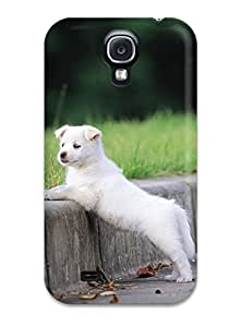 Galaxy S4 Case Slim [ultra Fit] White Puppy Protective Case Cover