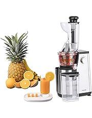 H.Koenig Verticale Juicer GSX24, voor Fruit en Groenten, BPA vrij, 82 mm, Grote Mond, 3 Zeven voor dun of dik sap en sorbet, Zachte Druk, 50 Toerental, 400 W