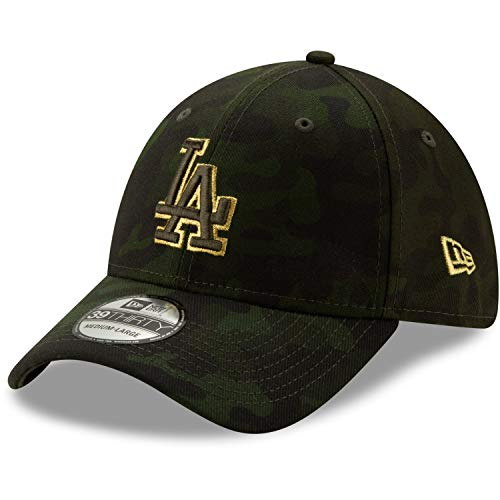 New Era Los Angeles Dodgers 2019 MLB Armed Forces Day 39THIRTY Flex Hat - Camo (Med/Large) (La Dodgers Hat 39)