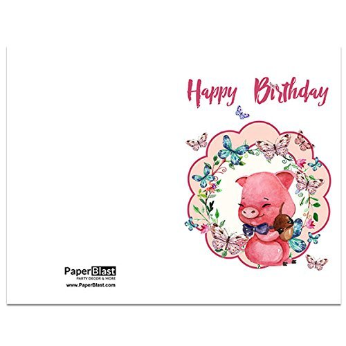 Amazon piggy birthday card with custom handwritten message piggy birthday card with custom handwritten message mailed to your recipient m4hsunfo