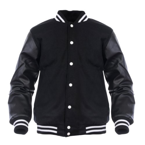 Angel Cola Black & Black Retro Varsity W - Synthetic Leather Body Shopping Results