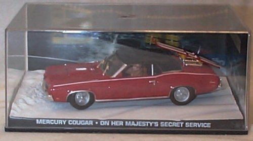 james bond 007 on her majestys secret service red mercury cougar film scene car 1.43 scale diecast model by universal hobby