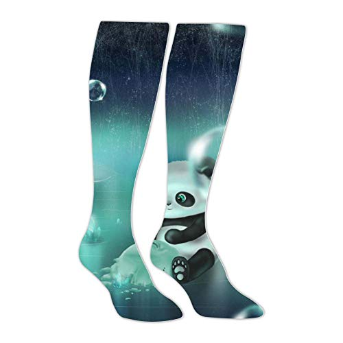 Knee High Stockings Little Panda Long Socks Sports Athletic for Man and ()