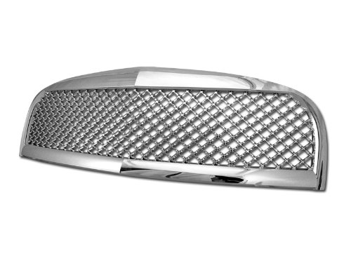 YLE FRONT HOOD BUMPER GRILL GRILLE COVER ABS 06-10 CHEVY HHR (Chrome Sport Mesh Grille)