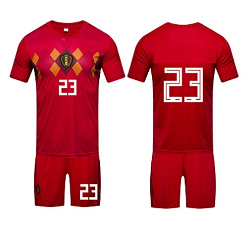 (ZLJTYN 2018, Soccer Jerseys, Home Jerseys For Belgian Football Teams, Adult Jerseys, Training Jerseys, Goalkeeper Jerseys, 23)