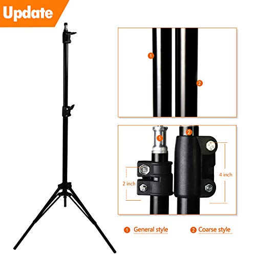 MOUNTDOG Upgraded 6.5 Ft/ 200CM / 78inch Photography Tripod Light Stand Aluminum Alloy Photographic Stand for Studio Reflector Softbox Umbrellas-6.5ftX2 by MOUNTDOG (Image #4)