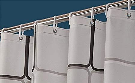 inklusive 12 Ringe Duschvorhanghaken 120 x 180 cm Wasserabweisend Schimmelresistent wasserdicht Anti-Schimmel Sosila Duschvorhang Anti-Bakteriell PEVA Duschvorhang