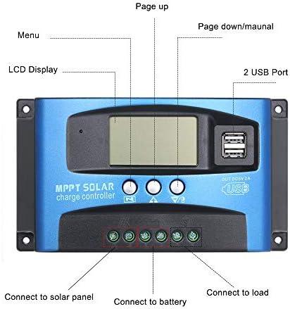 Bedler 30A MPPT Solarladeregler Dual USB LCD Display Auto Solarzellen-Ladegerät-Regler MPPT-Solarladeregler