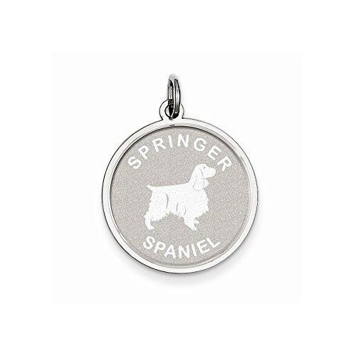 Top 10 Jewelry Gift Sterling Silver Springer Spaniel Disc - Charm Spaniel Springer