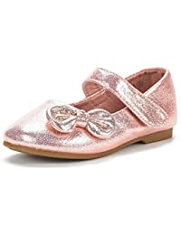 Dream pares Angel-5 adorable Mary Jane lazo lateral Strap – Bailarina plana (Toddler/Little Girl) nuevas