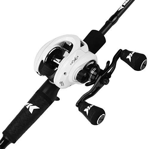 KastKing Crixus Fishing Rod and Reel Combo,Cast,6ft 6in, Med Heavy,Left Handed,2pcs