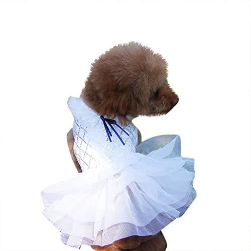 SuperUS_Pet Summer Bowknot Dress Tutu Skirt for Small Dog Girls Vest Clothing Puppy Costume Apparel for Chihuahua/Yorkie/Keji/Bago (Jackets Belt Life 12')