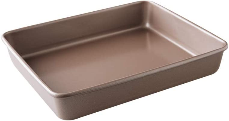 Bakerdream Non-stick Rectangular Cake Pan Oblong Cake Pan Brownie Pan Bakeware Rectangular Cake Mold, 9 x 11 inch