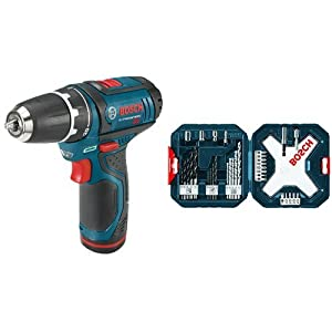 Bosch PS31-2A 12-Volt Max Lithium-Ion 3/8-Inch 2-Speed Drill/Driver Kit with 34-Piece Drill and Drive Set