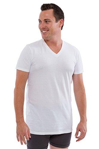 - Texere Men's Organic Cotton V-Neck Undershirt (Wayra, Natural White, M)
