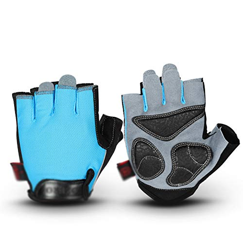 (Half Finger Gloves, Non-Slip Shock Absorption, Breathable Sweat Mittens, Suitable for Outdoor Sports, Mountaineering, Fitness, Cycling, Unisex)