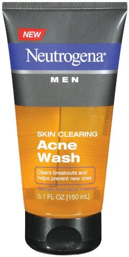 Neutrogena Men's Skin Clearing Acne Wash, 5.1 Ounce (Pack of 3)