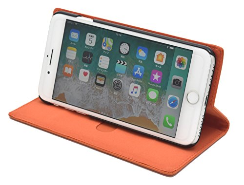PLATA iPhone6Plus/iPhone6sPlus/iPhone7Plus/iPhone8Plus ケース 手帳型 ラム シープスキン 羊革 本革 レザー カバー 6プラス 6sプラス 7プラス 8プラス 【 ネイビー 紺 ねいびー navy 】