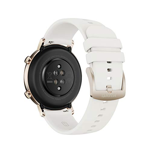 "HUAWEI Watch GT 2 - Smartwatch con Caja de 42 mm, hasta 1 Semana de Batería, Pantalla táctil AMOLED 1.2"", GPS, 15 Modos Deportivos, Pantalla 3D de Cristal, monitorización cardíaca, Blanco"