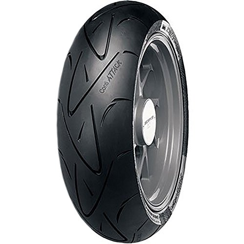 - 190/50ZR-17 (73W) Continental ContiSport Attack Hypersport Radial Rear Motorcycle Tire for Suzuki TL1000R 1998-2003